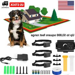 1/2/3 Electric Wireless Dog Fence No-Wire Pet Containment Sy