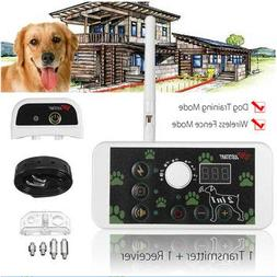 2 in 1 Wireless Dog Fence Training Containment System Transm