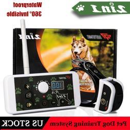 2 in 1 Dog Electric Shock Fence System Dog Training Collar R