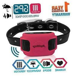 AngelaKerry Wireless Dog Fence System with GPS, NO Electric