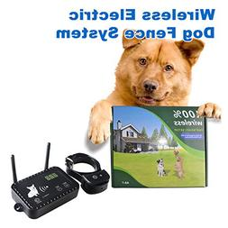 Dog Wireless Fence Pet Electric Containment System, Safe Eff