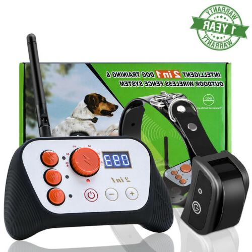 Wireless Electric Dog Pet Fence Containment System Training
