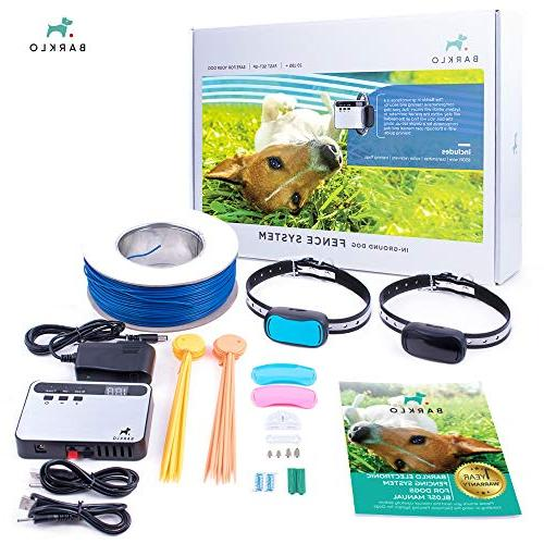 Barklo Invisible Electric Fence for Dogs - Pet with 2 and Wire