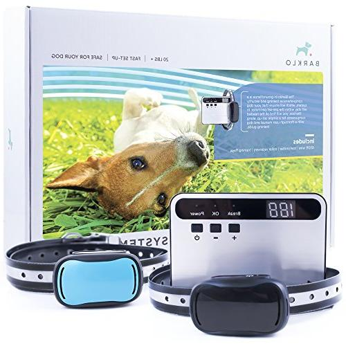 Barklo Invisible Electric Fence for Dogs - Underground Pet P