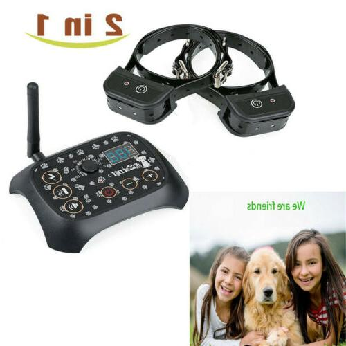 Dog Shock Collar Fence Wireless Electric Trainer Outdoor
