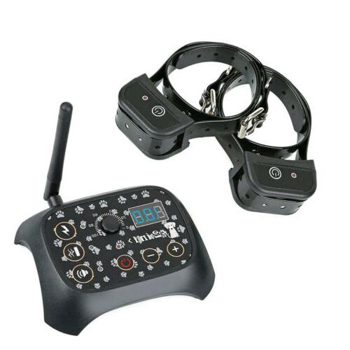 Dog 2 Collar Fence Electric Trainer System