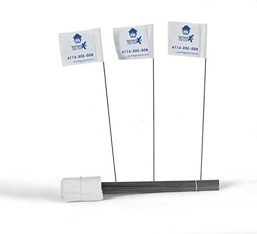 Electric Dog Fence Boundary Flags for Visual Aid During Unde