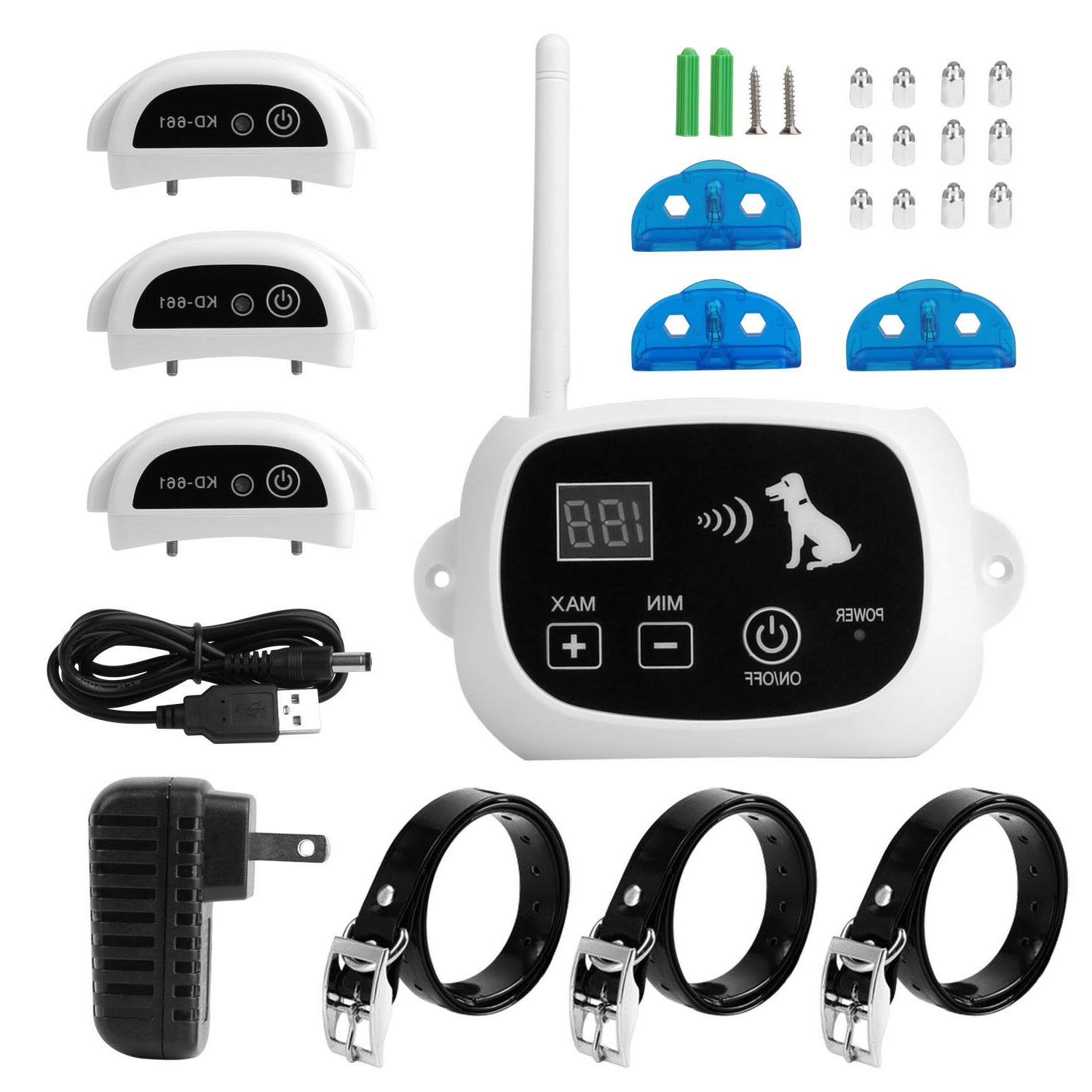 wireless electric dog pet fence containment system