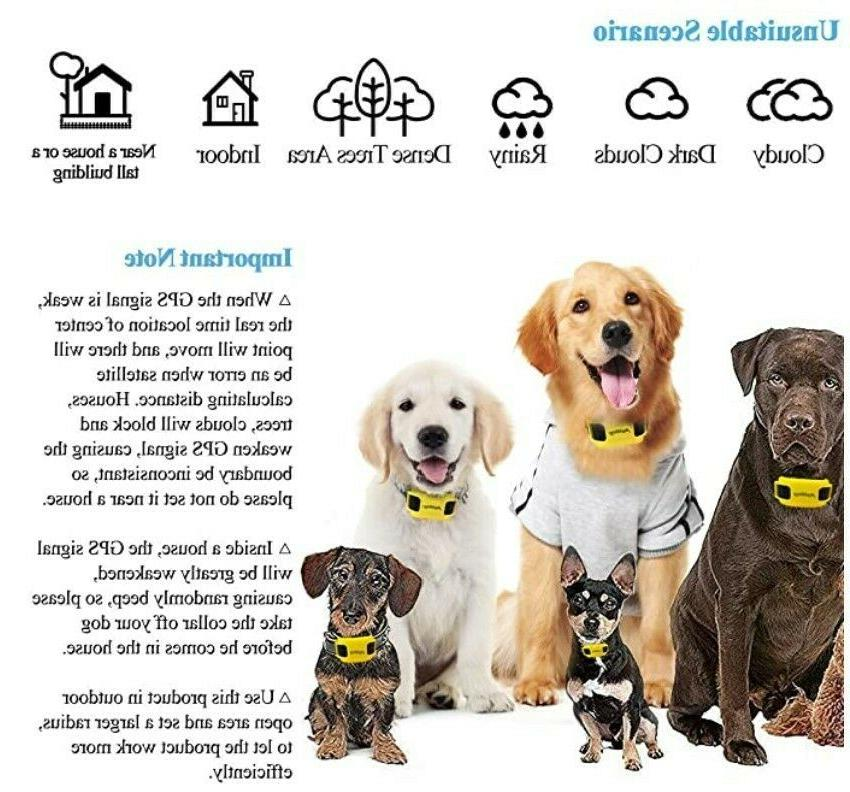 AngelaKerry Wireless System with GPS.Rechargeable Waterproof Collar