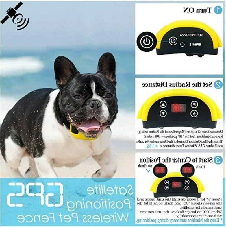 AngelaKerry Dog Fence System GPS.Rechargeable Waterproof Collar