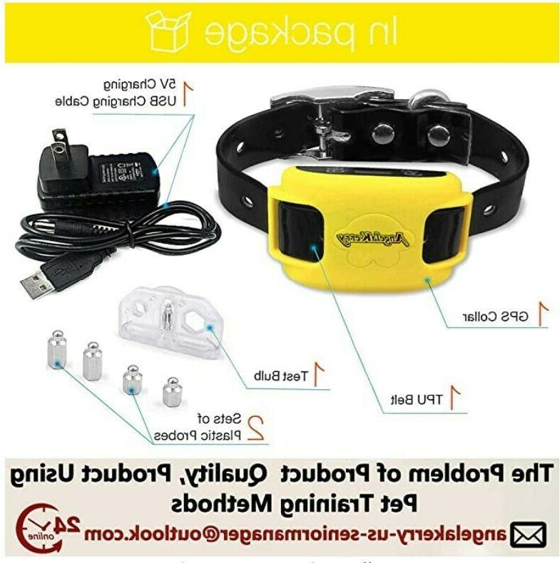 AngelaKerry Wireless Fence System GPS.Rechargeable Waterproof Collar