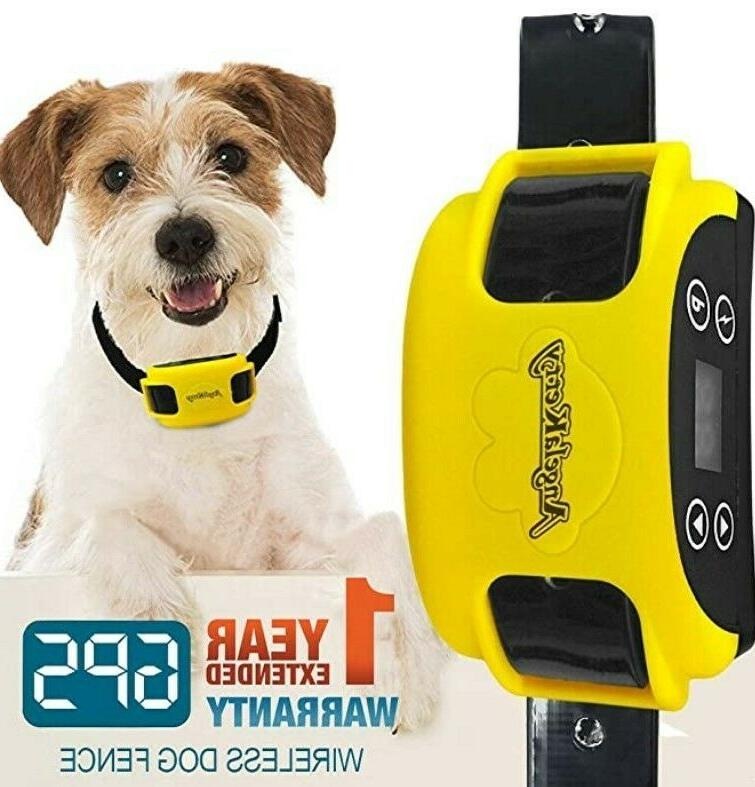 wireless dog fence system with gps rechargeable