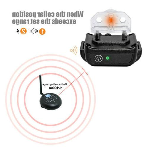 Wireless Electric Fence No-Wire Pet System