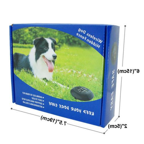 Wireless 1/2/3 Dog Fence No-Wire Pet System Rechargeable
