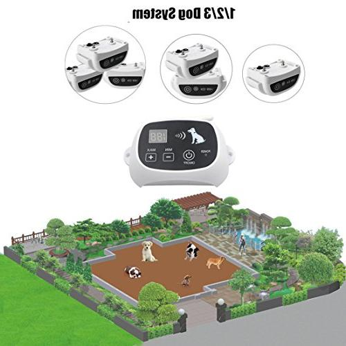 CarePetMost Electric Fence System Wireless Dog System 550YD Remote for Rechargeable Mode