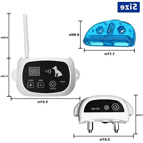 CarePetMost Wireless Electric Fence System Outdoor Wireless for Dogs Rechargeable Receiver Mode