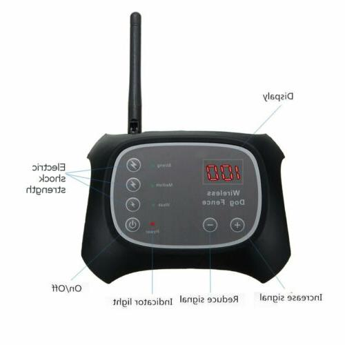 Wireless Electric Dog Fence Containment Transmitter Collar