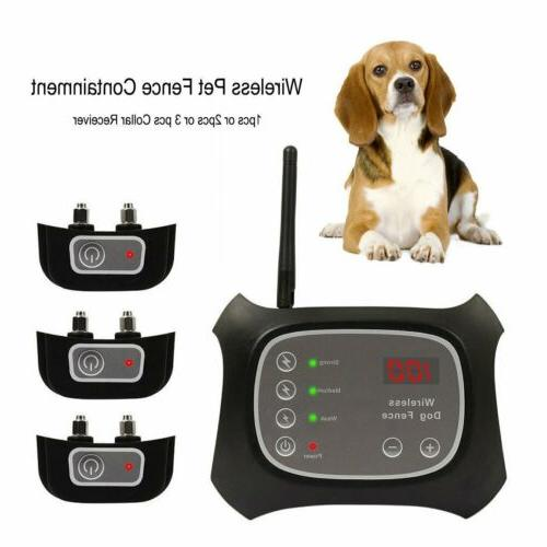 Wireless Pet 1-2-3 Dog Fence Containment System Transmitter Collar BE
