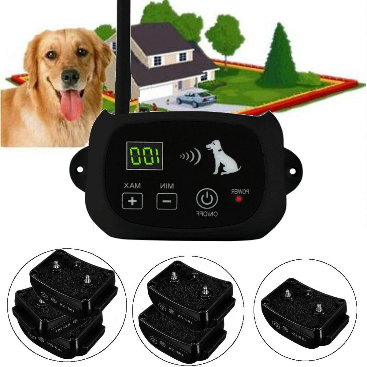 Wireless Electric Pet Fence Waterproof Rechargeable Containm