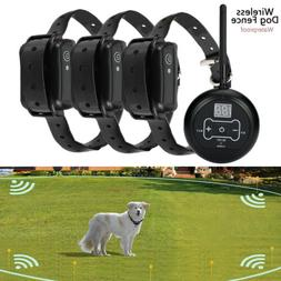 Wireless Electric Collar System Transmitter Fences Containme