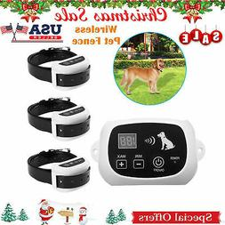 Wireless Electric Pet Dog Fence Containment System Transmitt