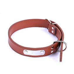 Pet Dog Collar Buckle Candy Color PU Leather Collar Neck Str