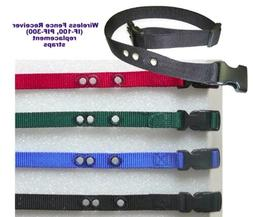 """Wireless Fence Receiver  replacement collar strap 3/4"""" Nylon"""