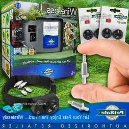 Petsafe PIF-300 Instant Wireless Pet Fence System & New Gent