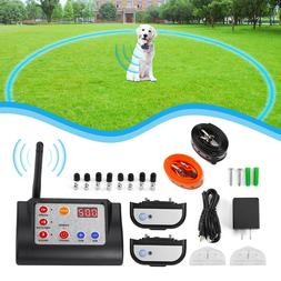Remote 2 Dog Training Collar Wireless Electronic Containment