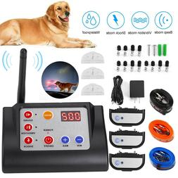 Remote 3 Dog Training Collar Wireless Electronic Containment