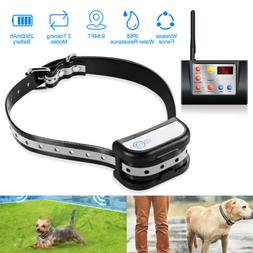 US Wireless Dog Fence WiFi Pet Containment System Rechargeab
