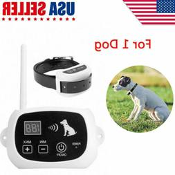 Wireless Dog Fence Collar No-Wire Pet Containment System Rec