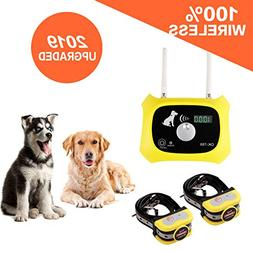 Wireless Dog Fence Electric Pet Containment System, Safe and