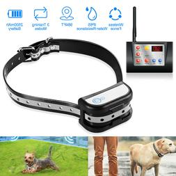 Wireless Dog Fence No-Wire Pet Containment System Rechargeab