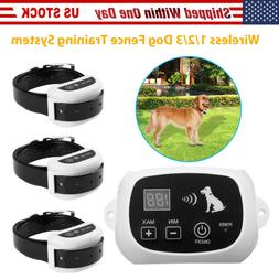 Wireless Dog Fence Pet Train Collar Containment System Water