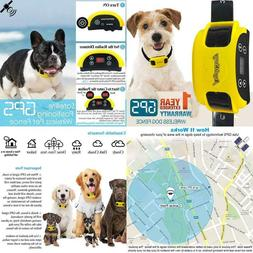Wireless Dog Fence System Gps Outdoor Pet Containment System