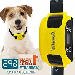 AngelaKerry Wireless Dog Fence System with GPS Outdoor Pet C