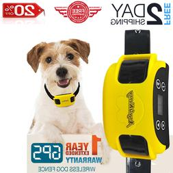 AngelaKerry Wireless Dog Fence System with GPS, System Recha