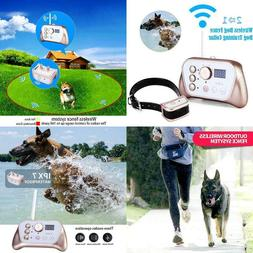 Wireless Dog Fence Training Dog Collar 2 In 1 System Stables