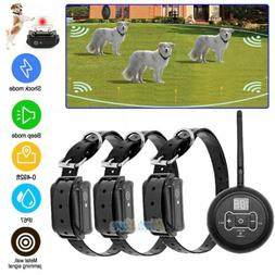 Wireless Electric 1/2/3 Dog Fence No-Wire Pet Containment Sy