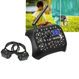 Wireless Electric 2 Dog Pet Training Fence Containment Syste