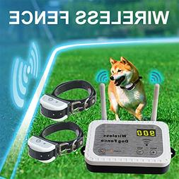 Wireless Electric Dog Fence Pet Containment System, Safe Eff