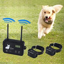Wireless Electric Dog Fence Pet Containment System, Safe and