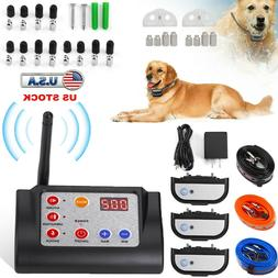 1/2/3 Dogs Wireless Dog Fence Pet Containment System Waterpr