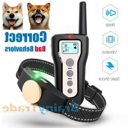 Electric Dog Training Collar IPX7 Waterproof Beep Vibration