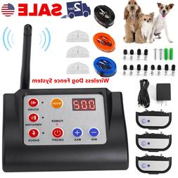 Wireless Fence System 3 Dog Containment Electric Remote Shoc