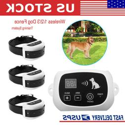 Wireless Pet Dog Fence Containment System Waterproof Shock T