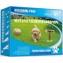 Wireless Pet Fence - Free to Roam Wireless Containment for D