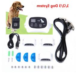 Wireless Rechargeable 1-2-3 Dog Fence Pet Containment System