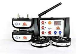 wireless two dog containment electric fence